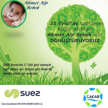 21 Eylül'de toplanan kağıt atıkları Ahmet Alp Bebek için DÖNÜŞTÜRÜYORUZ.
